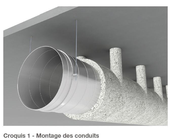 Montage des conduits
